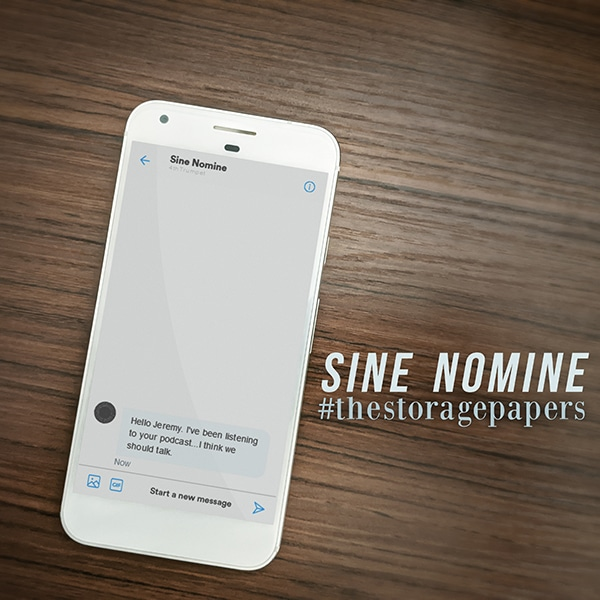Sine Nomine - The Storage Papers podcast episode art